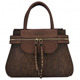 Ženska torbica SNAKE ZIP BROWN